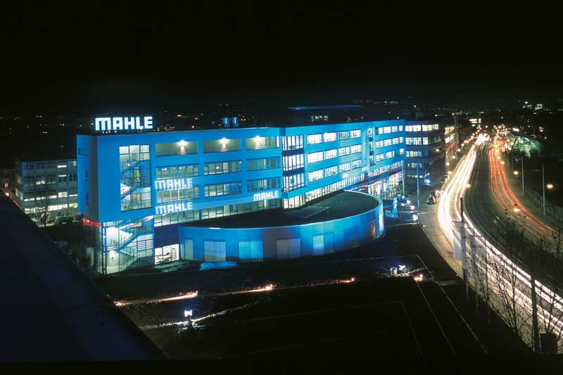 MAHLE Headquaters at night